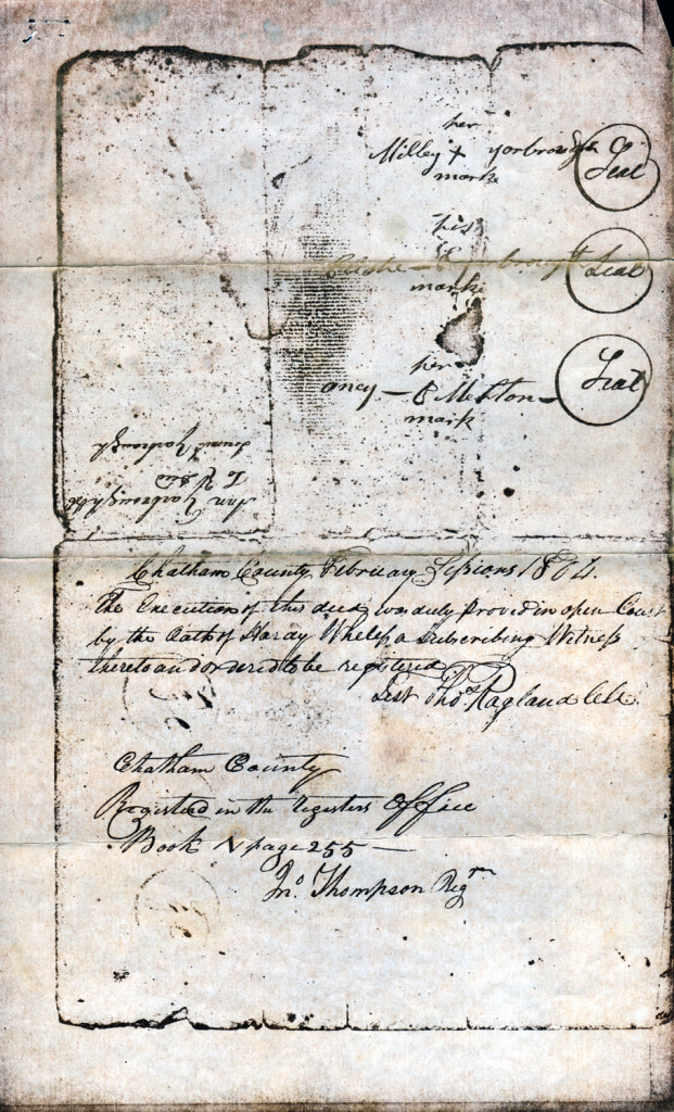 Page 3 of 1803 Deed: Children of Joseph Yarborough to Jeremiah Yarborough
