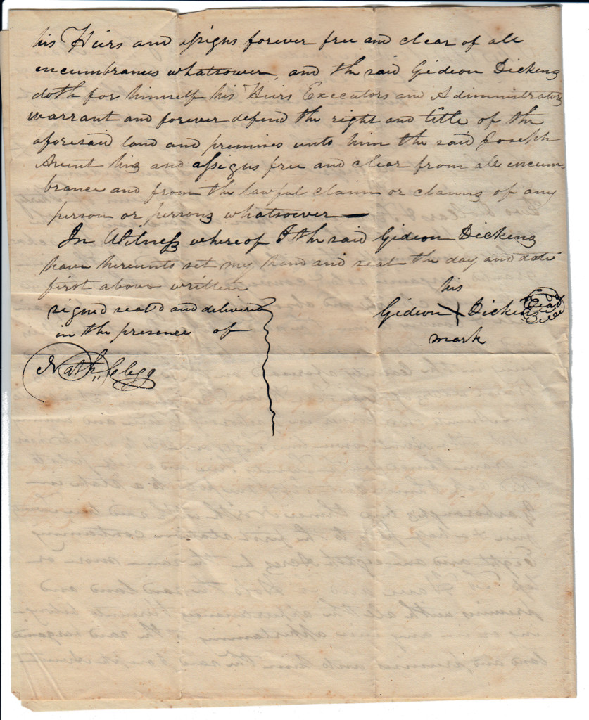 Page 2 of 1837 Deed: Dickens to Avent