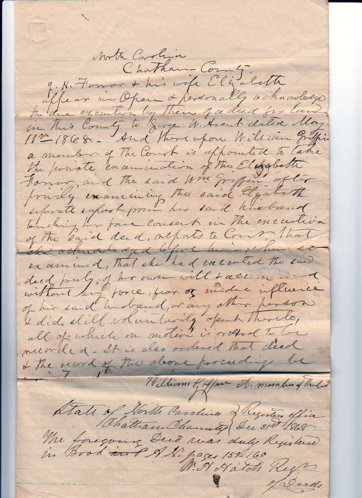 Page 4 of 1868 Deed: J.H. Farrar to G.W. AventFrom the papers of Merry T. Pittman