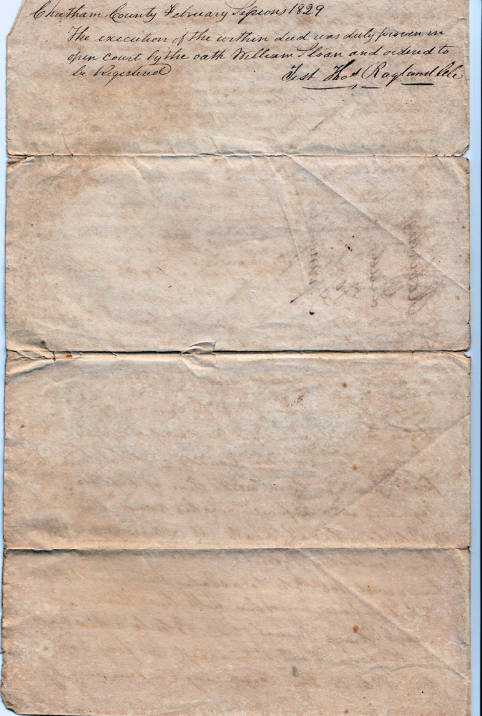 Page 4 of 1828 Deed: Kinchen Roberts to Thomas Springfield