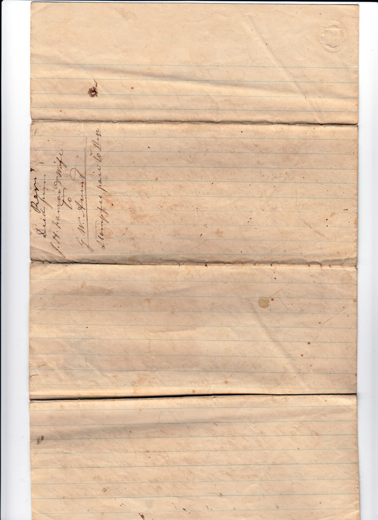 Page 1 of 1868 Deed: J.H. Farrar to G.W. AventFrom the papers of Merry T. Pittman