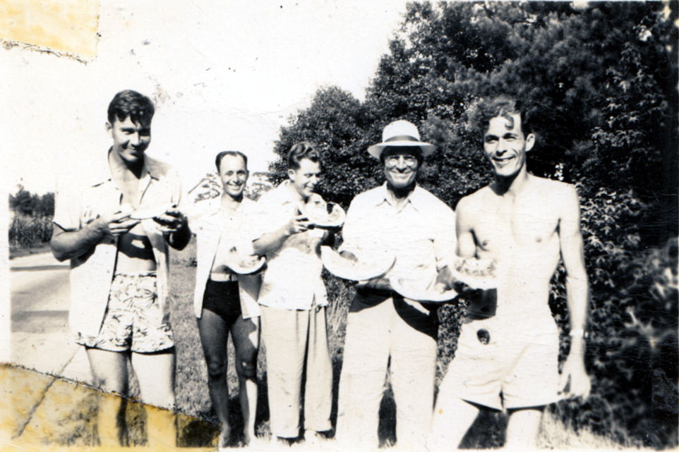 James Berdine Pittman, Ben Yarborough, Harry Clyde Thomas, Morris Finkley Pittman, and Lawrence Kruse ThomasFrom the papers of Merry T. Pittman