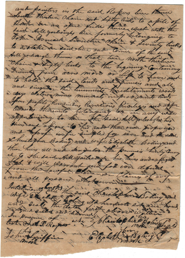 Page 2 of 1852 Deed: C Boling to Archibald Murphy Yarborough