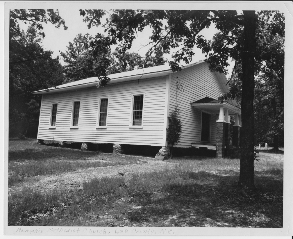 Memphis Methodist Church, built by Archibald Murphy YarboroughPhoto taken by G.H. Rosser (son of Lillian Yarborough Rosser)From the papers of Hazel Rosser