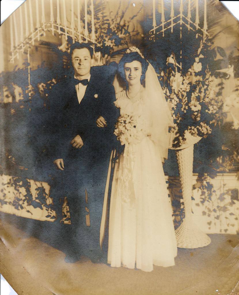 Harry and Berta Thomas, Wedding 15 May 1948