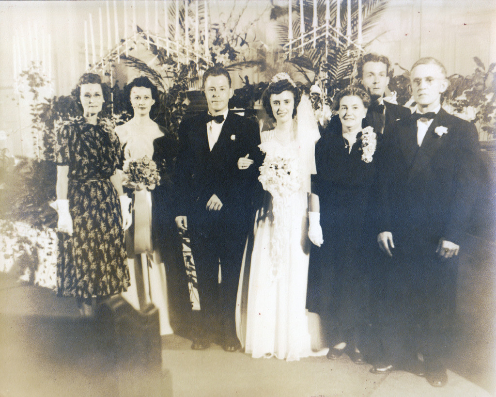 Harry and Berta Thomas, Wedding 15 May 1948
