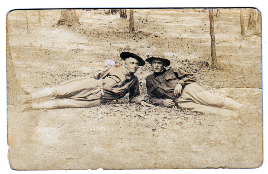James Clyde Thomas and friend, WWI