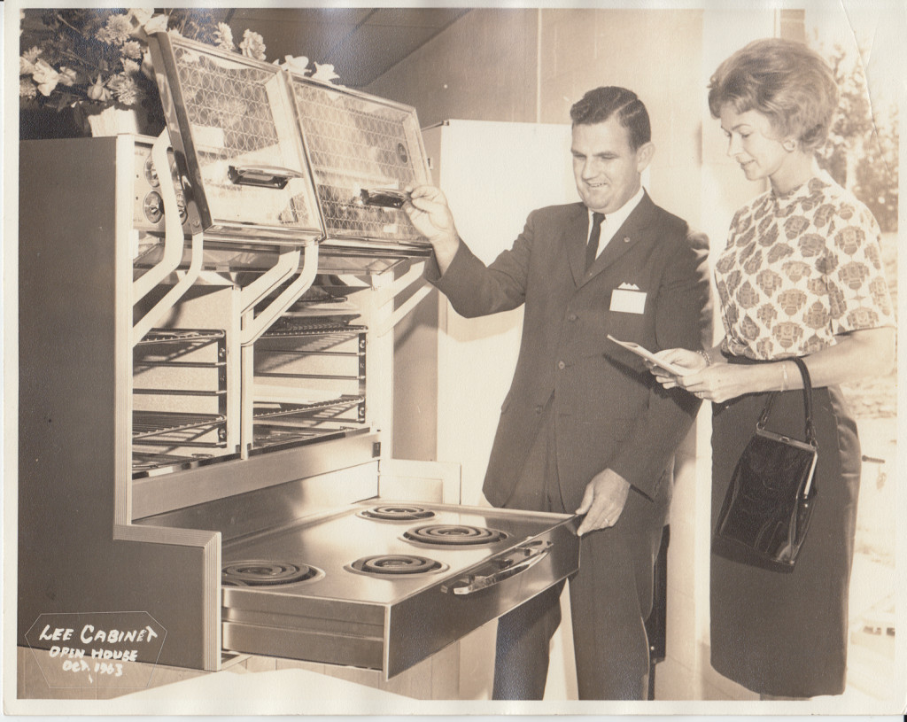 Merry T. Pittman at the Lee Cabinet Open House 1963