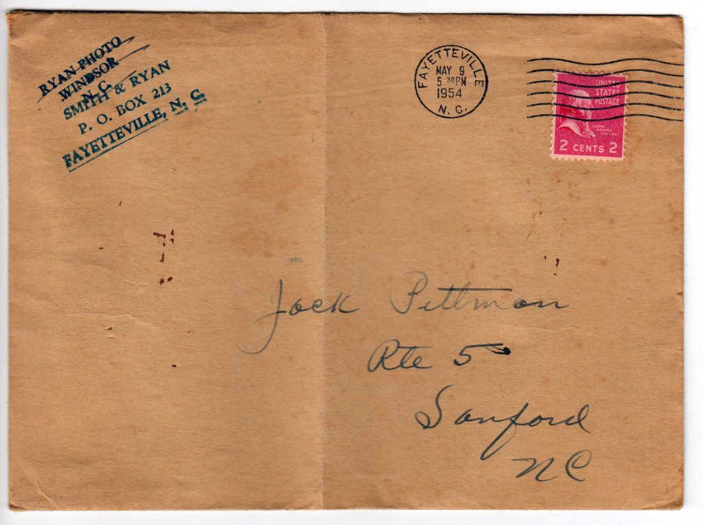 Photographer's envelope, 1954